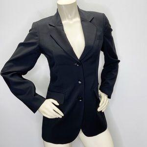 Sisley Italy Black 3-button Virgin Wool Blazer